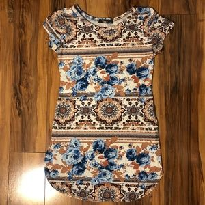 Floral & Mandala Short Sleeved Tunic | Small